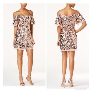 Vince Camuto Of The Moment Sequin Slip Dress  8